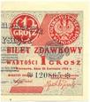 1 grosz 1924 - bilet zdawkowy
