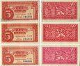 Czechosłowacja, 3x5 koron 1949
