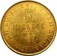 FINLANDIA/ROSJA  -  10  MAREK  1879  MENNICZA