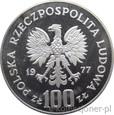100 ZŁOTYCH 1977 - OCHRONA ŚRODOWISKA - ŻUBR - MEN-PROMO