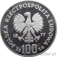 100 ZŁOTYCH 1977 - OCHRONA ŚRODOWISKA - ŻUBR - MENNICZA