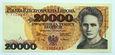 PRL 20000 zł Maria Skłodowska-Curie 1989 seria Y - stan UNC