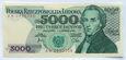 PRL 5000 zł Fryderyk Chopin 1982 seria AW - stan UNC