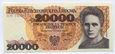 PRL 20000 zł Maria Skłodowska-Curie 1989 seria AM - stan UNC