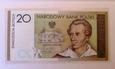 J1488 20 złotych 2009 SŁOWACKI UNC banknot kolekcjonerski