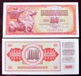 J1048 JUGOSŁAWIA 100 dinara 1986 UNC