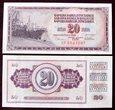 J1079 JUGOSŁAWIA 20 dinara 1978 UNC