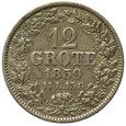 Wolne Miasto Brema 12 Grote 1859