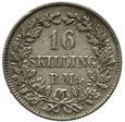 Dania 16 Skilling Rigsmont 1857 (c) VS - Fryderyk VII