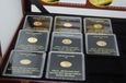 GAMBIA 2015 LUNAR 8 MONET x 0,62 gram RAZEM 5 GRAMM ZLOTA 999