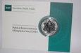 POLSKA 2014  10 ZL SKOCZEK OLYMPIADA SOCZI 14,14 gr srebro 925