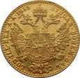 AUSTRIA: Dukat 1915 rok. Złoto 986, 3,49 g