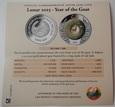 LAOS: 2000 kip 2015 r. 2 Oz srebra. Rok Kozy