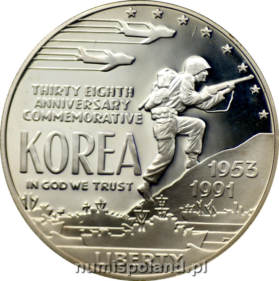 USA: 1 dolar 1991 rok. KOREA