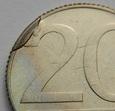 142  x 20 złotych 1990, stan 1/1-, DESTRUKT