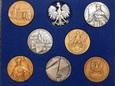 Zestaw medali 7 szt. 40 mm + Orzełek - Godło.