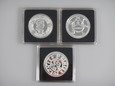 Najważniejsze srebrne monety polskie 3 x Ag 999, 15,5 g