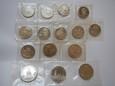 ROSJA: Zestaw 15 sztuk 1, 3 oraz 5 rubli 1989 - 1992