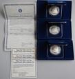USA: 3 x 1 dolar 1987, monety w eleganckim etui + certyfikaty
