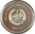 LAOS: 2000 kip 2013 r. 2 Oz srebra. Rok Smoka