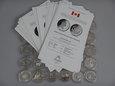 KANADA zestaw 32 x 1 dolar Ag 500, Ag 800, Ag 925.