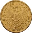 NIEMCY, 20 marek 1906 r. Au 900. WILHELM II
