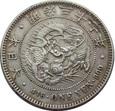 JAPONIA: 1 Yen Yr 37 (1904) (Meiji 37). Ag 900, 26,95 g.