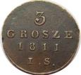 3 grosze 1811 rok. IS Warszawa
