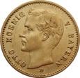NIEMCY, Bawaria (D), 10 marek 1907 r. Au 900. 3,98 g. OTTO