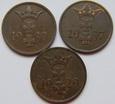 3 x 1 fenig 1929 / 1930 / 1937 rok Wolne Miasto Gdańsk.