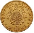 NIEMCY, 20 marek 1888 r. Au 900. Fryderyk III
