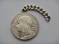 10 złotych 1932 r. Głowa kobiety, moneta złańcuszkiem