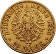 NIEMCY PRUSY 20 marek 1884 r. Wilhelm. Au 900