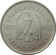 NIEMCY - Weimar - 3 marki 1932 - A - Goethe