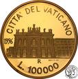 Watykan 100 000 Lire 1996 Jan Paweł II st.L