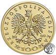 Polska III RP 100 złotych 2000 Jan II Kazimierz st.L