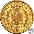 Włochy Sardynia 80 lirów 1829 (kotwica) st.1-