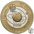 200 złotych 2000 Rok 2000 Au/Ag st.L