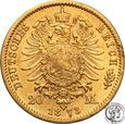 Niemcy Prusy 20 Marek 1873 C st.2