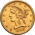 USA 5 dolarów 1899 Philadelphia st.1-