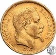 Francja Napoleon Bonaparte 20 Franków 1861 A st.1-