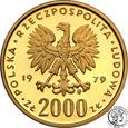 2000 złotych 1979 Maria Skłodowska Curie st.L/L-