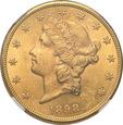 USA 20 dolarów 1898 S San Francisco NGC MS61