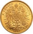 Austria 10 koron 1897 Franciszek Józef I st. 1
