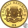Somalia 25 dolarów 2005 Kardynał Ratzinger 1/4 uncji złota st.L