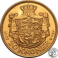 Dania 20 koron 1917 Christian X st.1