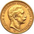 Niemcy Prusy 20 Marek 1905 J (Hamburg) st.1-