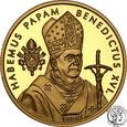 Somalia 25 dolarów 2005 Benedykt XVIr 1/4 uncji złota st.L