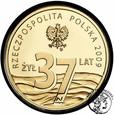 Polska III RP 37 złotych 2009 Popiełuszko st.L