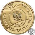 100 złotych 1999 Jan Paweł II Papież Pielgrzym st.L
